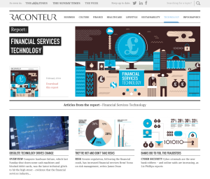 Raconteur fintech page screenshot