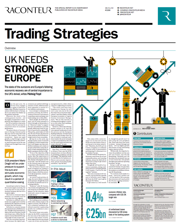 Raconteur trading strategies cover ST 16 November 2014